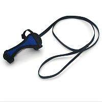 Комплект шлея и поводок для грызунов Спорт Щурык синий
