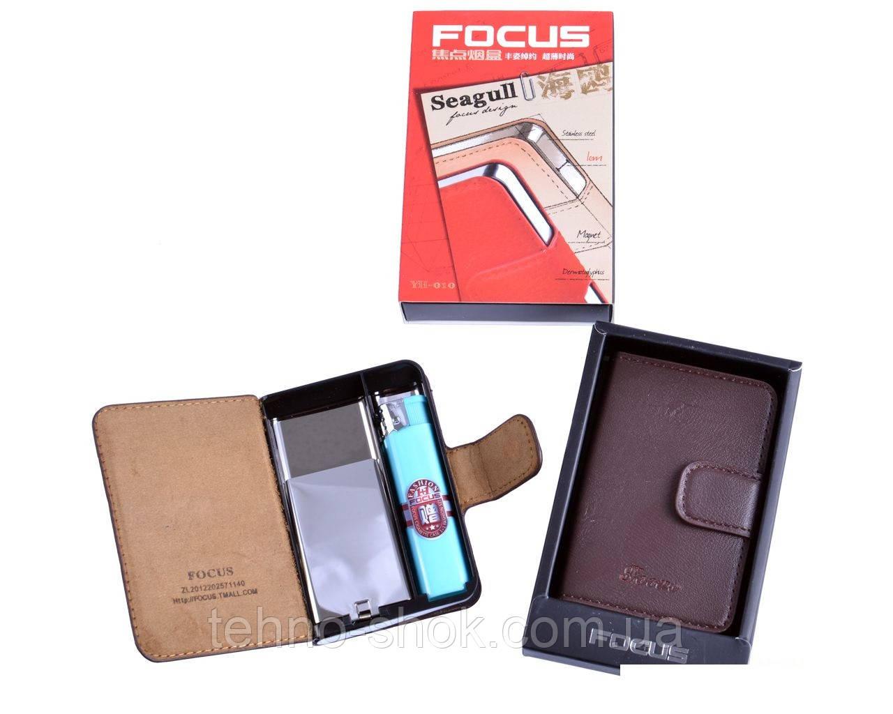 Портсигар в подарунковій упаковці на 10 сигарет з запальничкою №3755-1