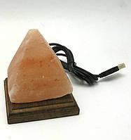 """Соляная лампа USB """"Пирамида"""" 10х9х9см (25670)"""