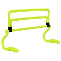 Барьер для бега и прыжков легкоатлетический регулируемый тренировочный пластиковый Zelart Зеленый (C-4598)