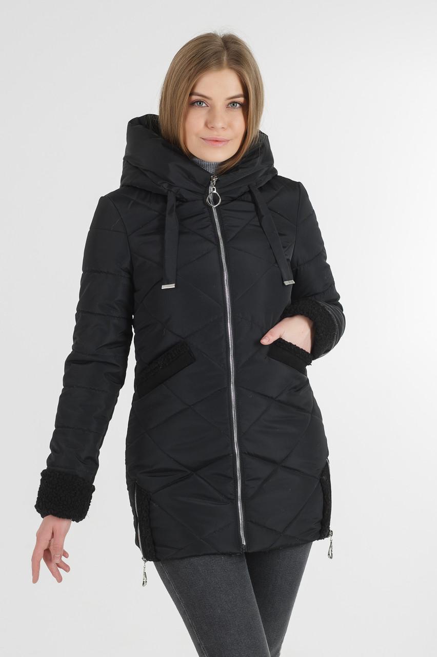 Демісезонна куртка Фоксі подовжена колір чорна ,синя, рожева