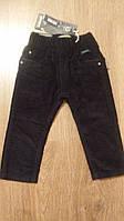 Вельветовые штаны на флисе 86