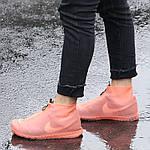 Многоразовые бахилы на обувь от воды (размер М, L цвет Розовый) + защитная маска, фото 5