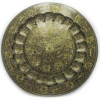 Тарелка бронзовая настенная 40см (20427)