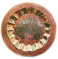 Тарелка бронзовая настенная 22,6см (23496)