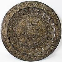 Тарелка бронзовая настенная 60см (20426)
