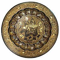 Тарелка бронзовая настенная 34см (24750)