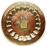 Тарелка бронзовая настенная 37см (26116)