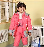 Детский зимний комбинезон с курткой для девочки