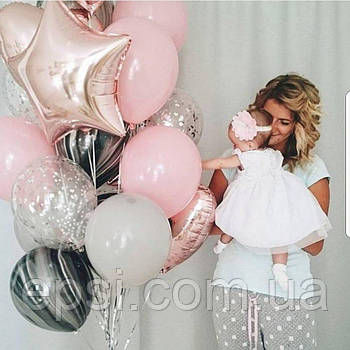 Букет шаров с гелием «Детский восторг» 18 шт