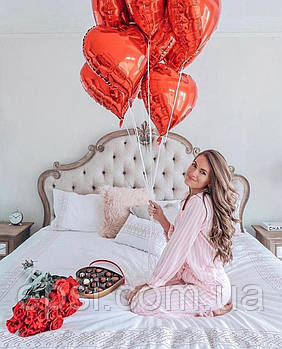 Букет шаров с гелием «7 сердец» 7 шт