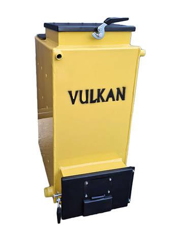 Котел Vulkan EKO 10 кВт твердопаливний шахтний (Холмова).Безкоштовна доставка!, фото 2