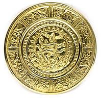 "Тарелка настенная бронзовая ""Танцующий Шива"" d-18,5см (24722)"