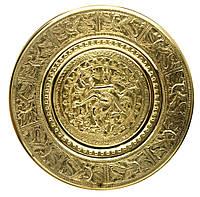"Тарелка настенная бронзовая ""Танцующий Шива"" d-23см (24498)"