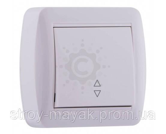Выключатель проходной одноклавишный Lezard серия DEMET белый (наружный)