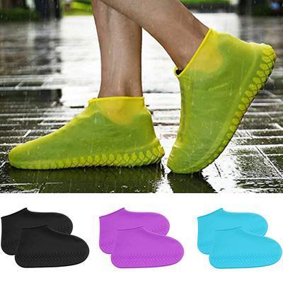 Защитные чехлы (бахилы) на обувь от воды  (цвет Серый, размер М, L)