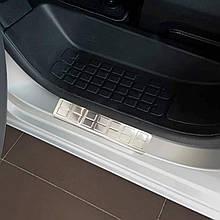 Накладки на пороги передних дверей для Peugeot Traveller / Expert lll 2016+ /нерж.сталь/