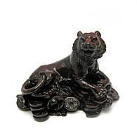 Тигр каменная крошка коричневый (12х8х8см)