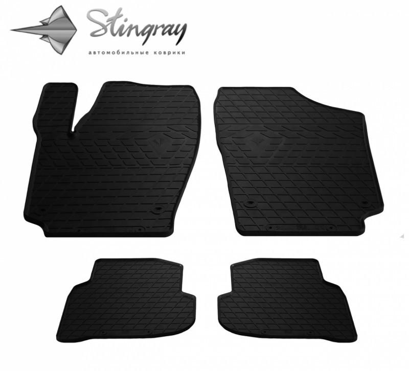 Резиновые коврики в автомобиль Volkswagen Polo (sedan) 2009- (Stingray)