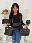 Женская сумка 6в1, экокожа PU (чёрный), фото 3