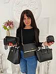 Женская сумка 6в1, экокожа PU (чёрный), фото 2