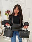 Женская сумка 6в1, экокожа PU (чёрный), фото 4
