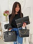Женская сумка 6в1, экокожа PU (чёрный), фото 5