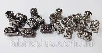 Наконечник шнура металлический никель/черненный
