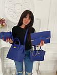 Женская сумка 6в1, экокожа PU (синий), фото 3