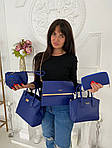 Женская сумка 6в1, экокожа PU (синий), фото 5