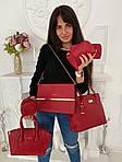 Женская сумка 6в1, экокожа PU (красный), фото 2