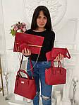 Женская сумка 6в1, экокожа PU (красный), фото 3