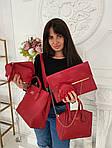 Женская сумка 6в1, экокожа PU (красный), фото 4