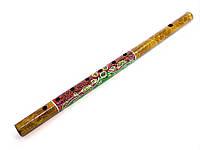 Флейта бамбуковая с рисунком (d-2.5,h-40.5см)