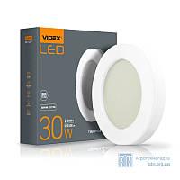 LED светильник функциональный круглый VIDEX 30W 2800-6000K 220V