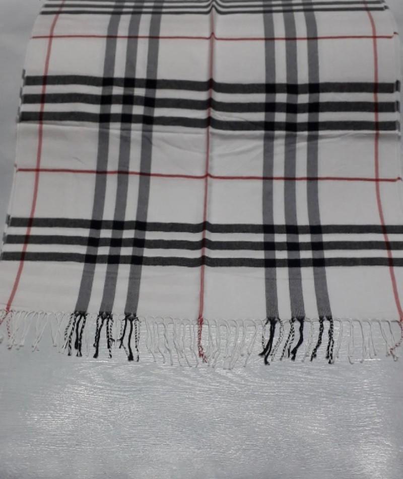 Палантин шарф кашемир женский  Burberry с бахромой тёплый стильный