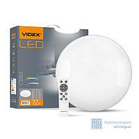 LED светильник функциональный круглый WI-FI VIDEX 72W 2800-6000K 220V
