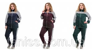 Женский утепленный спортивный костюм, большого размера, ангора-софт с начесом, р. 50,52,54,56,58 разные цвета