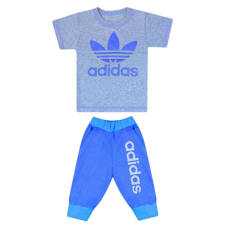 Комплект літній футболка+бриджі з принтом Adidas для хлопчика кулір
