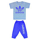 Комплект літній футболка+бриджі з принтом Adidas для хлопчика кулір, фото 2