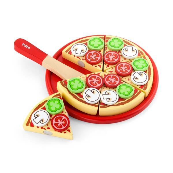 Игрушечные продукты Viga Toys Пицца из дерева (58500)