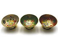 Фруктовница бронзовая цветная 11,5х11,5х6см (27841)
