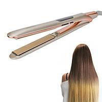 Плойка утюжок для вирівнювання волосся Geеmeу GM-407 Silver