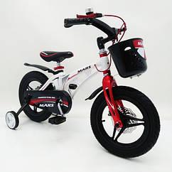Детский двухколесный магнезиевый велосипед на 14 дюймов MARS-14 белый