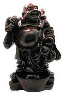 Хотей стоящий на чашах богатства каменная крошка 39см (18621)