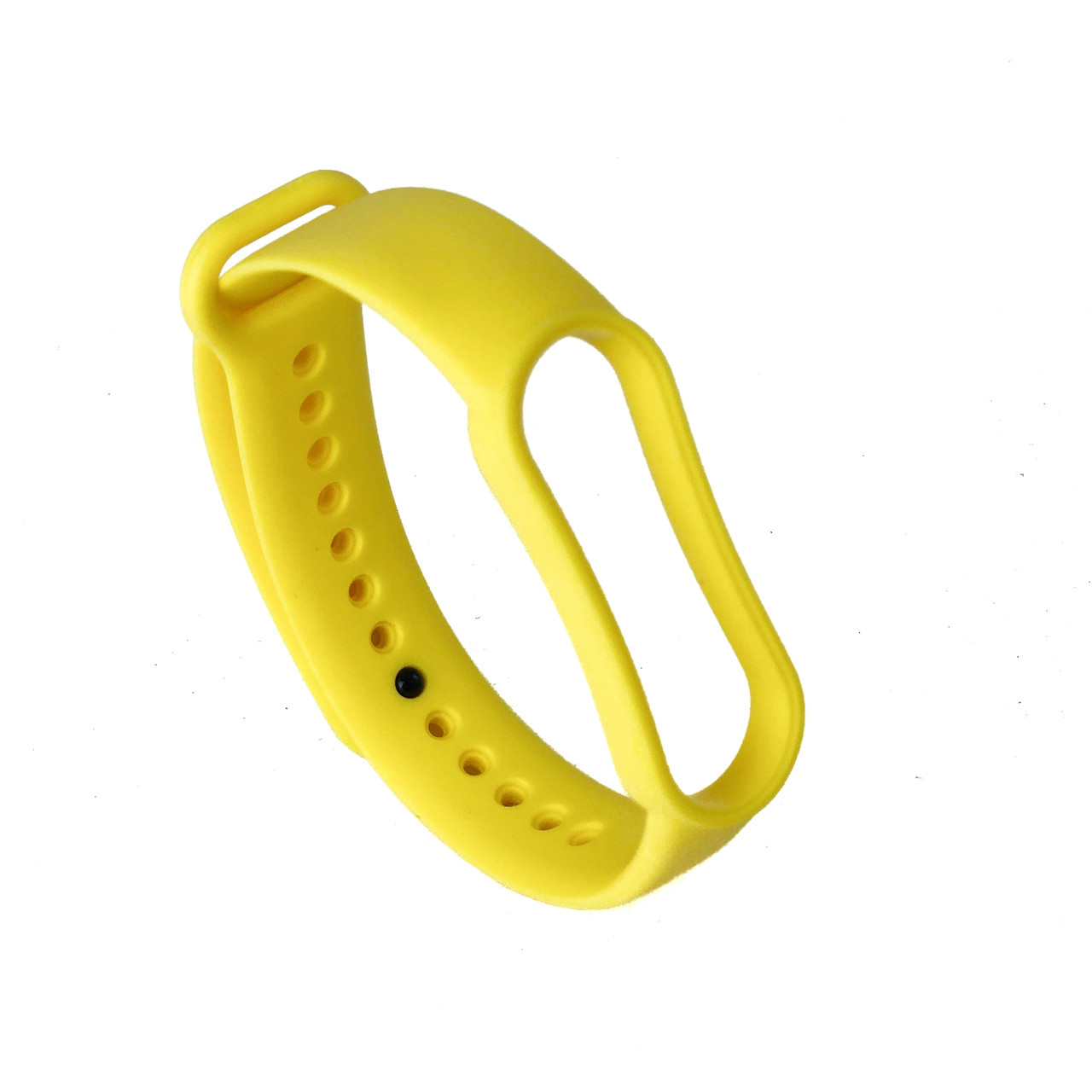 Ремешок силиконовый для Xiaomi Mi Band 5 №9 ярко-желтый