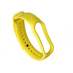 Ремешок силиконовый для Xiaomi Mi Band 5 №9 ярко-желтый, фото 2