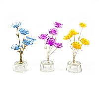 Цветок хрустальный 5 цветков 15х5х5см (18872)