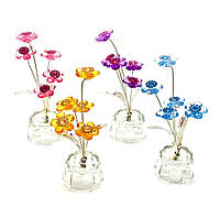 Цветок хрустальный 5 цветков 4,5х4,5х10см (18865)