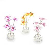 Цветок хрустальный 5 цветков 15х5х5см (18869)